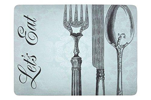 Premier Housewares Let' s Eat tovagliette, Sughero, Verde, 29x 0.69x 22cm