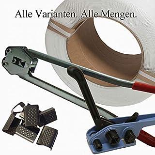200 Verschlusshülsen geriffelt Hülsen verzinkt 16 mm Umreifungsband PP PET