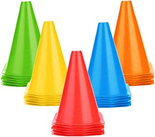 IROCH 25 PCS Soccer Cones Disc Cone Sets for Training, Field Cone Markers Football, Kids, Sports