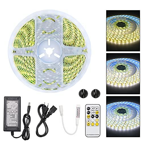 URAQT Striscia LED 5M, Strisce LED, Triscia LED Bianco Caldo, per Casa, Cucina, Festa, TV, Decorazione