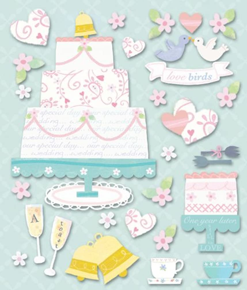 K&Company Wedding Cakes Sticker Medley