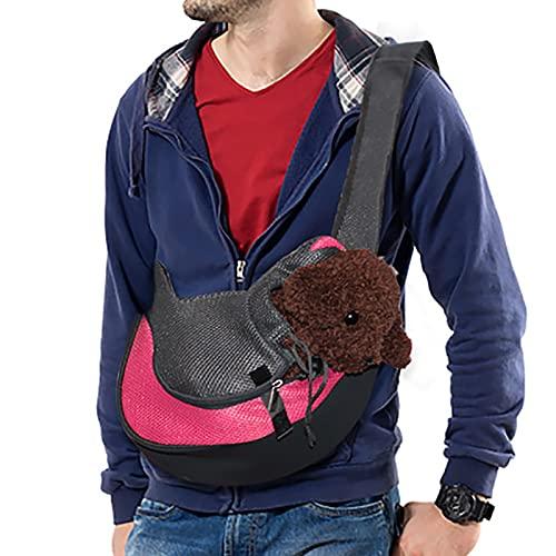 Rednut Pet Dog Sling Carrier,Hand Free Puppy Carrier Breathable Mesh Travel Safe Sling Bag- Dog Carrying Bag Pet Padded Strap Bag for Small Dog Cat
