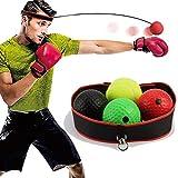 NXACETN Pelota reflectante de boxeo, pelota de entrenamiento de boxeo con diadema, adecuada para adultos y niños, el mejor equipo de boxeo para entrenamiento, coordinación de mano y ojo y fitness