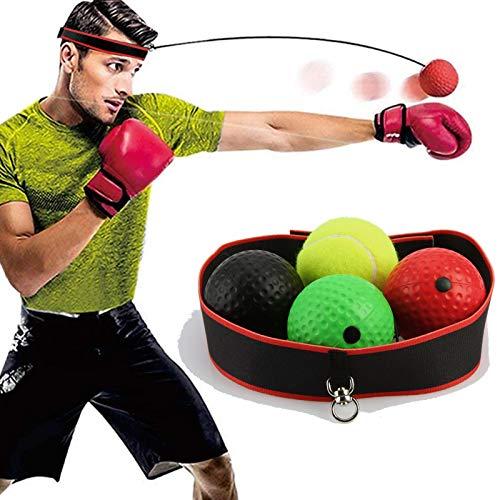 NXACETN Pelota reflectante de boxeo, pelota de entrenamiento de boxeo con diadema,...