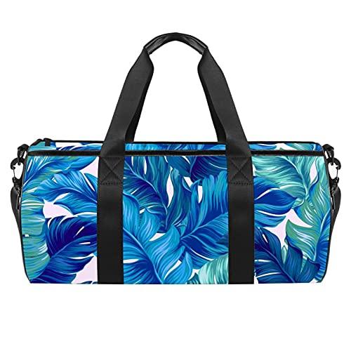 Bolsa de viaje de viaje, bolsa de gimnasio, bolsa de hombro para semanario durante la noche para mujer, delfín de dibujos animados con patrón de arco