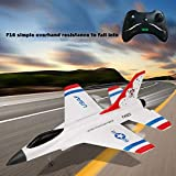 OKBOP Remote Control Airplane Kit for Kids Adults Boys, FX-823 2.4G 2CH RC Airplane Ready to Fly, Beginner RC Aircraft Glider RTF Toys Great Gift Outdoor Toy (White)