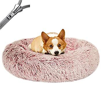 Puppy Love Panier Chien, Coussin Chien Anti Stress XXXL Lavable - Orthopedique Panier Chien Anti Stress, Paniers Et Mobilier pour Chiens Dehoussable Rond Apaisant #2-80cm