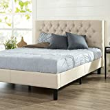ZINUS Misty Upholstered Platform Bed Frame / Mattress Foundation / Wood Slat Support / No Box Spring Needed / Easy Assembly, Taupe, Queen