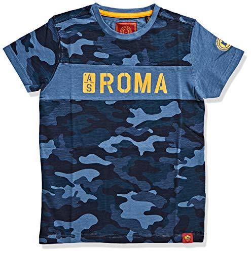 AS Roma T-Shirt Girocollo Bambino Deep Water Camu, 14