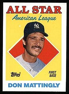1988 Topps # 386 All-Star Don Mattingly New York Yankees (Baseball Card) Dean's Cards 8 - NM/MT Yankees
