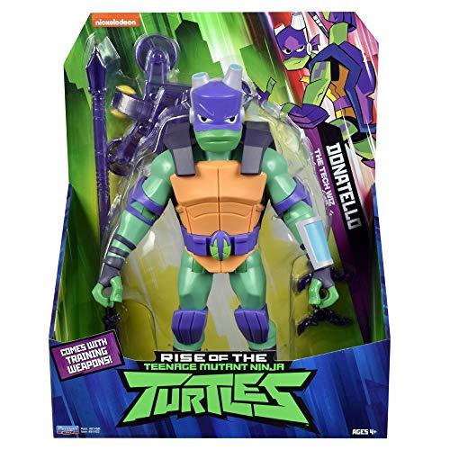 Giochi Preziosi Teenage Mutant Ninja, Turtles Rise Off, Personaggi Giganti 30 cm con Suoni, Donatello SideFlip Attack