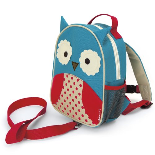 Skip Hop Zoo Rucksack, für Kinder, mit Leine, Sicherheitsleine, mehrfarbig, Eule Otis