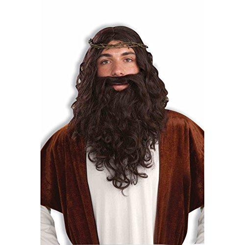 Générique - Pe162 - Set Jésus - Perruque + Barbe + Couronne D'Epines - Taille Unique
