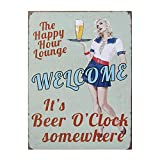 Mitening Lata Metal Vintage de la Pared Muestra Placa Cartel Terapia de Grupo Practica aquí para Cafetería Bar Cerveza Decoración, 30 x 40 cm