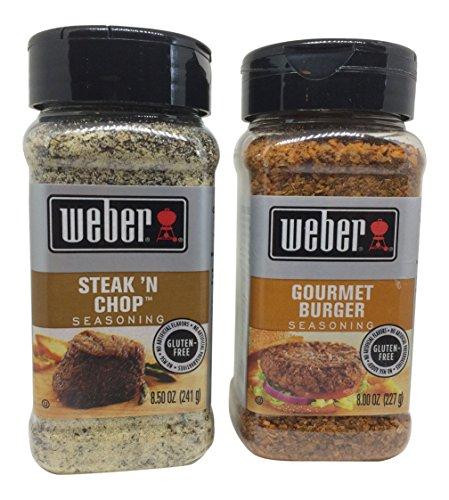 Weber Gourmet Burger and Steak N Chop Seasoning Bundle