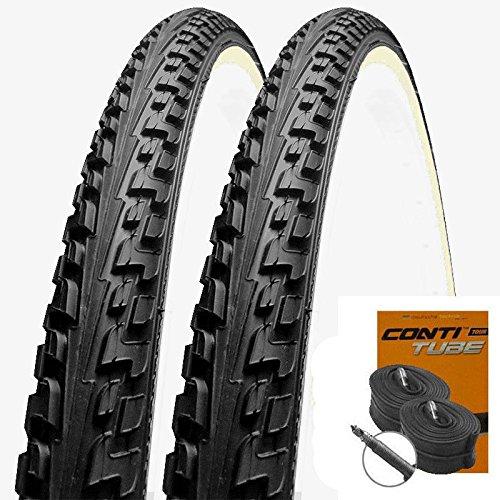 Set: 2 x Continental banden Ride Tour zwart-wit 47-622/28x1.75 + Conti binnenband racefietsventiel
