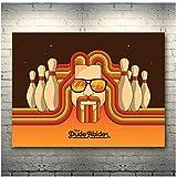 Sanwooden The Big Lebowski Movie Art Leinwand Poster Druck