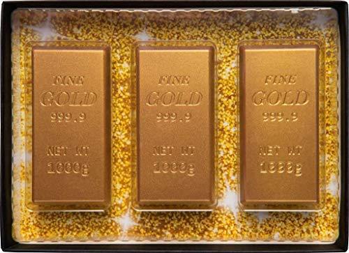 Weibler Confiserie Goldbarren in Vollmilchschokolade - 1 x 75 Gramm