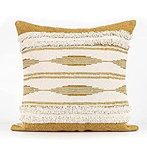 Cushions Covers Throw Pillow Casecushions For Sofa Handmade Tufted Retro Old Pillow Living Room Sofa Cushion Cotton Linen Personality Creativity-Yellow Denmark 45X45Cm