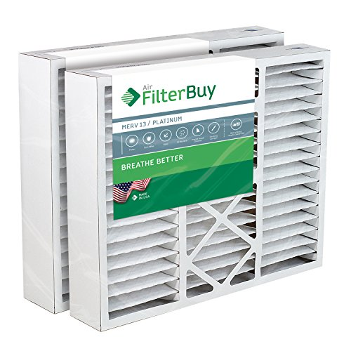 FilterBuy 20x25x5 Air Filter MERV 13, Pleated Replacement HVAC AC Furnace Filters for Honeywell, Carrier, Bryant, Day & Night, Lennox, and Payne (2-Pack, Platinum)