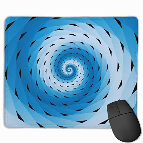 Blue Black Spiral Rechteckiges rutschfestes Gaming-Mauspad Tastatur Gummi-Mauspad...