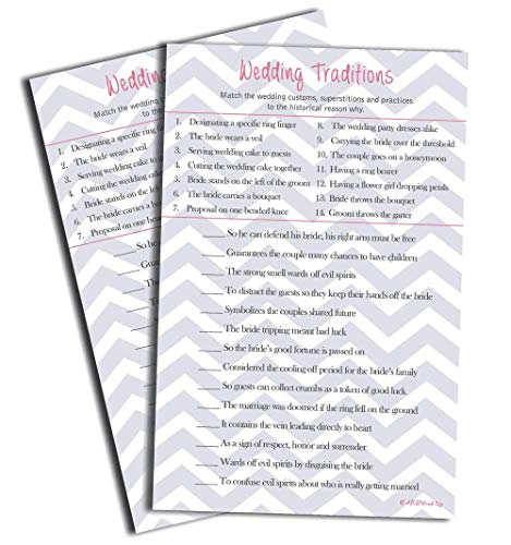 Wedding Tradition Game (50-sheets)