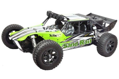 XciteRC 30202000 RC Auto Sand Rail, 4WD Ready to Race Brushless Modellauto, 1:8 mit 2.4 GHz Fernsteuerung, grün