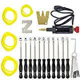 MOTOALL 11 PCS Carburetor Adjustment Tool Carb Adjusting Kit with ZT-1 500-13 Metering Lever Tool for Poulan Husqvarna STIHL Echo Trimmer Weedeater Chainsaw 2-Cycle Small Engine