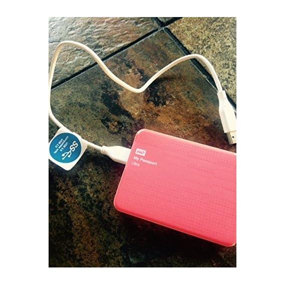 WD My Passport 500GB Portable External Hard Drive Storage USB 3.0 Pink (WDBKXH5000APK-NETG)