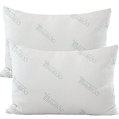 Essence of Bamboo Pillow-The Original Premium Stay Cool Hypoallergenic Down Alternative Fiber Pillow - Designed and Filled in USA - Best Sleep Ever, 100% Satisfaction Guaranteed (Queen)