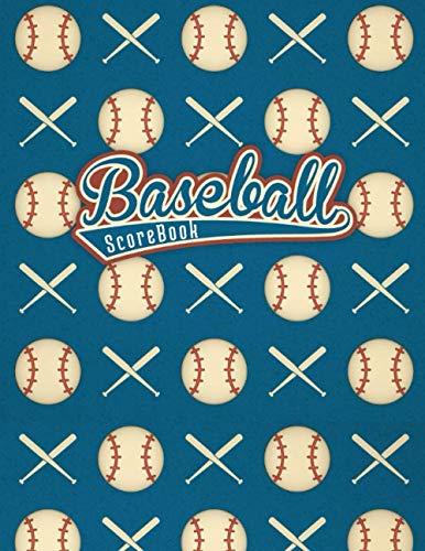 BASEBALL SCOREBOOK: KEEP TRACK OF EVERY DETAIL OF YOUR BASEBALL TEAM   100 Baseball Score Sheets   Baseball Scorecard   Softball.