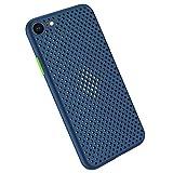 Desconocido Funda Compatible con Silicone Case para iPhone 6 Plus, Carcasa de Silicona Suave Antichoque Bumper Anti-Sobrecalentamiento Case para iPhone 6S Plus, Azul