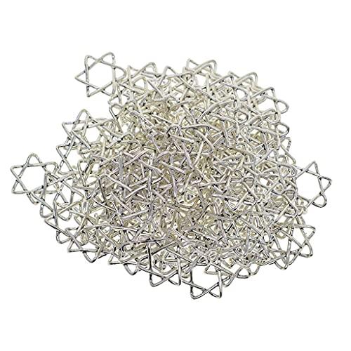 200 piezas estrella de David encantos colgantes accesorios clave collar de bricolaje colgantes
