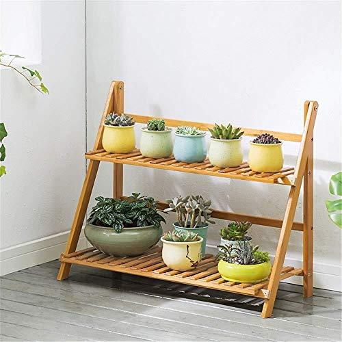 hsj Soporte de madera para flores y macetas, bonsái, para exteriores e interiores (color: color primario, tamaño: 70 cm)