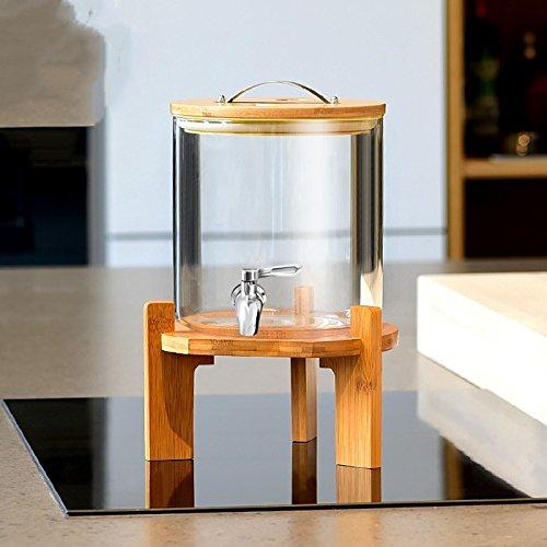 Homebrew fermentador de cerveza y vino haciendo resistente a alta temperatura de vidrio de botella caseros, jugos Junta latas Keg Botella de vidrio transparente,9000ML,con núcleo cerámico grifo