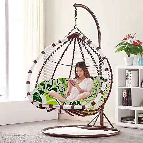 Balancín Sillón Colgante Doble, diseño Moderno para Porche, jardín o decoración Interior.
