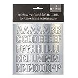 Goldbuch 10 209 – Juego de letras adhesivas en plata, letras para pegar con 2 hojas, hoja de...