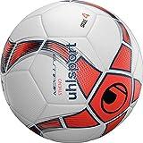 uhlsport Medusa STHENO Balón fútbol, Juventud Unisex, White/Fluo Red/Navy, 4