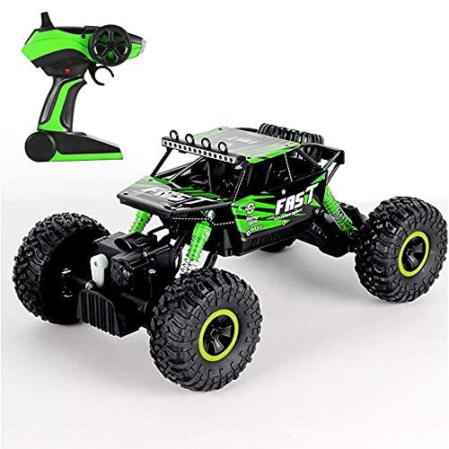 Coche de acrobacias de carreras eléctricas, RC Car 4WD 2.4GHz Coche de escalada 4x4 Bigfoot Car Modelo de control remoto Vehículo todoterreno de alta velocidad Al aire libre Impermeable Drift Racing