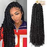 6 packs Crochet Passion Braiding Twist Hair 18inch Long Bohemian Curly Water Wave Braids(1B)
