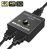 SWAPKART HDMI Switch/Splitter- 2 Port Bi-Directional Manual Button HDMI Switch 2 in 1
