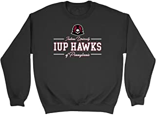 Official NCAA Indiana University Pennsylvania Hawks - AA00026 Mens/Womens Boyfriend Sweatshirt