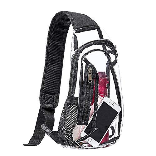 Eland Clear Sling Bag, Stadium Approved Mini PVC Crossbody Shoulder Backpack, Transparent Casual...