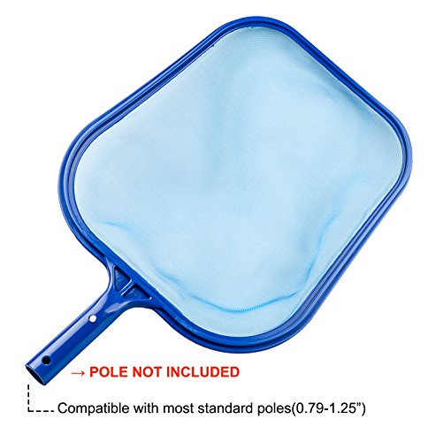 Evob Leaf Skimmer Net Swinging Pool Skimmer Above Ground Pool Maintenance - Fine Mesh Net - for Cleaning Surface of Swimming Pools, Hot Tubs, Spas and Fountains