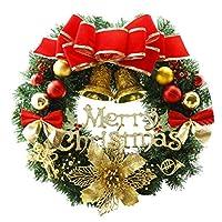 Amandakasa クリスマス花輪 クリスマスリース 玄関リース 30/40/50cm ドア 窓 オーナメント インテリア 華やか 可愛い クリスマス デコレーション おしゃれ クリスマス飾り付け イベント パーティー 装飾 壁飾り