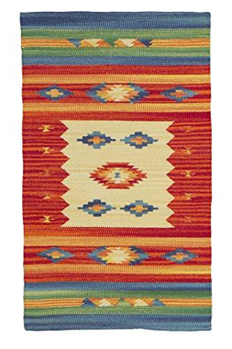Yute & Co Kilim Alfombra de Pasillo de algodón Trenzado a Mano, 55 x 90 cm