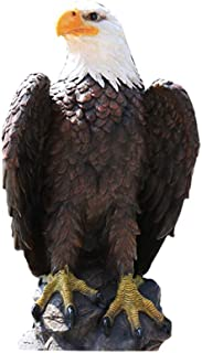 ZYLE Eagle Statue Decor, Outdoor Garden Home Living Room Office Large Animal Sculpture Decoration, High 24.2 Inches