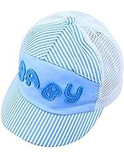 Vi.yo Sombrero de Dibujos Animados de los niños de Verano Gorras de Malla Bebé Niños Gorra de béisbol de la Visera de Moda Snapback Sombreros Niños niñas Gorra Ajustable Size 45-49cm (Azul)