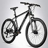 Bergsteiger Makalu 26 Zoll Mountainbike Aluminium, geeignet ab 150 cm, Scheibenbremse, Shimano 21...