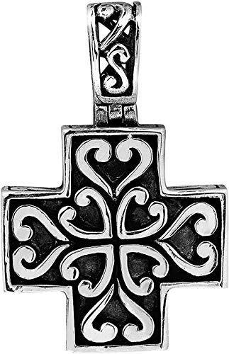 Liuqingzhou Co.,ltd Hermoso Colgante con una Cruz Griega .925 en el corazón